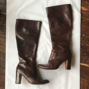 Nine West brown leather boots size 6.5
